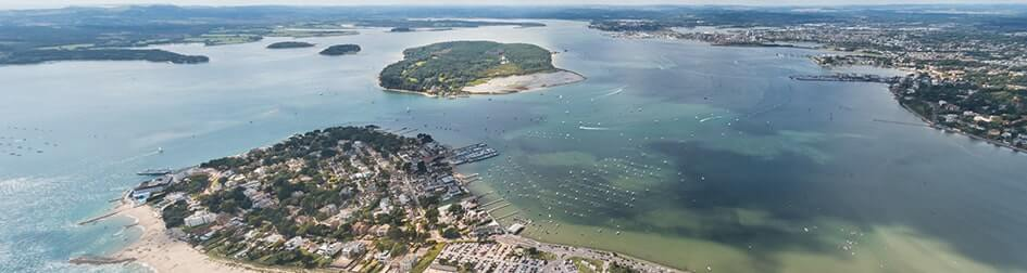 Aerial shot of Poole